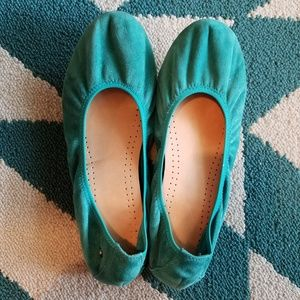 Teal Suede Hush Puppies Flats 7.5 W